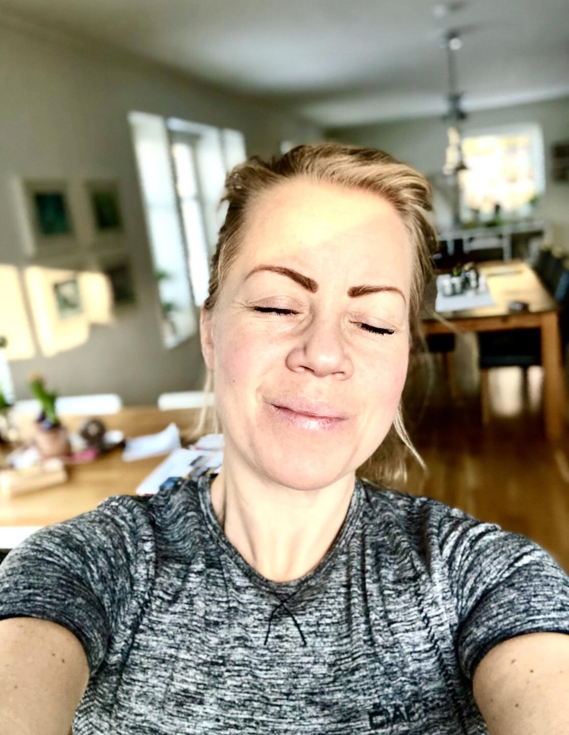 Karin Axelsson i vintersolljus