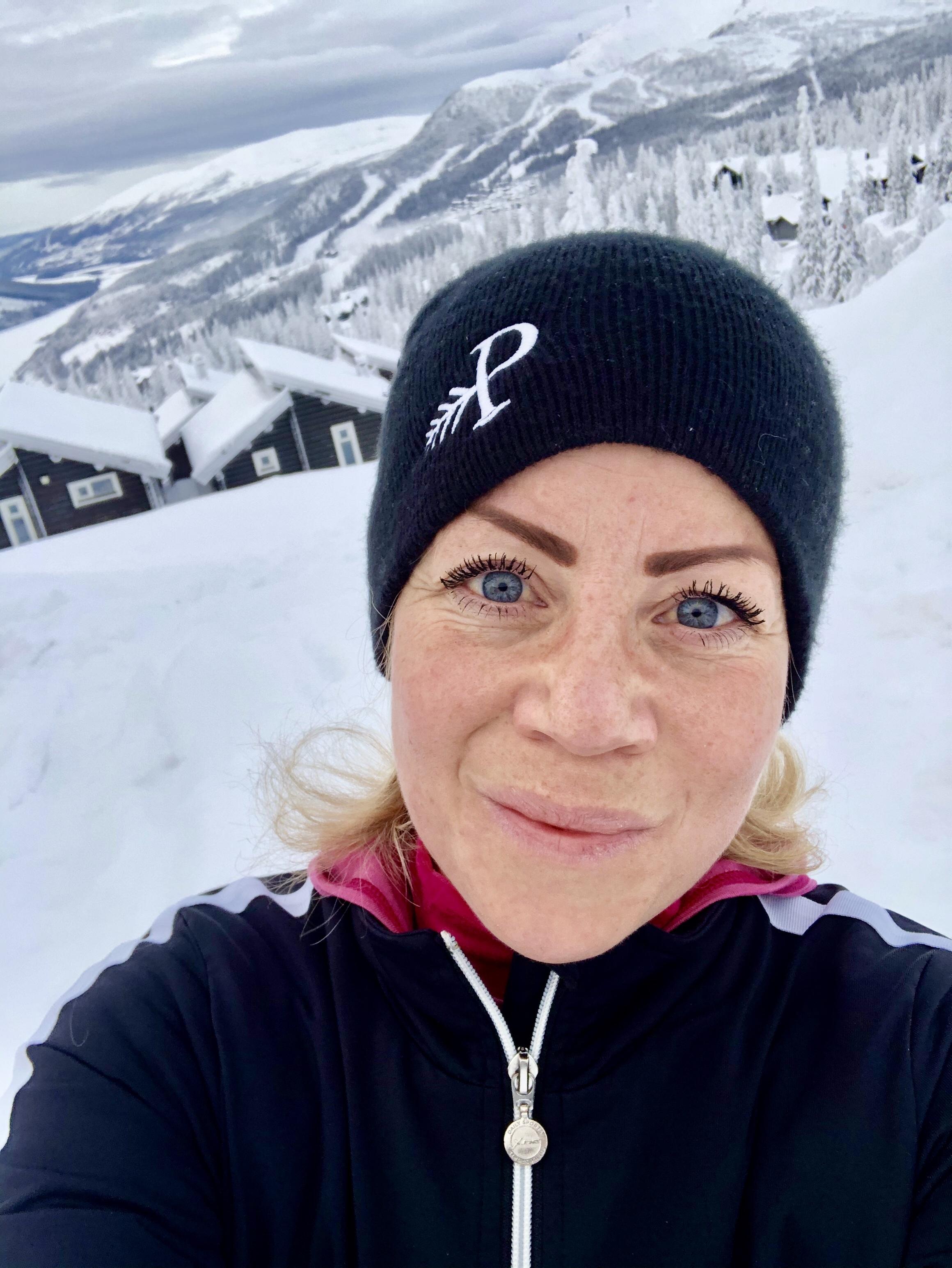 Jag springer fortfarande för Terese - Karin backlöpning i Åre