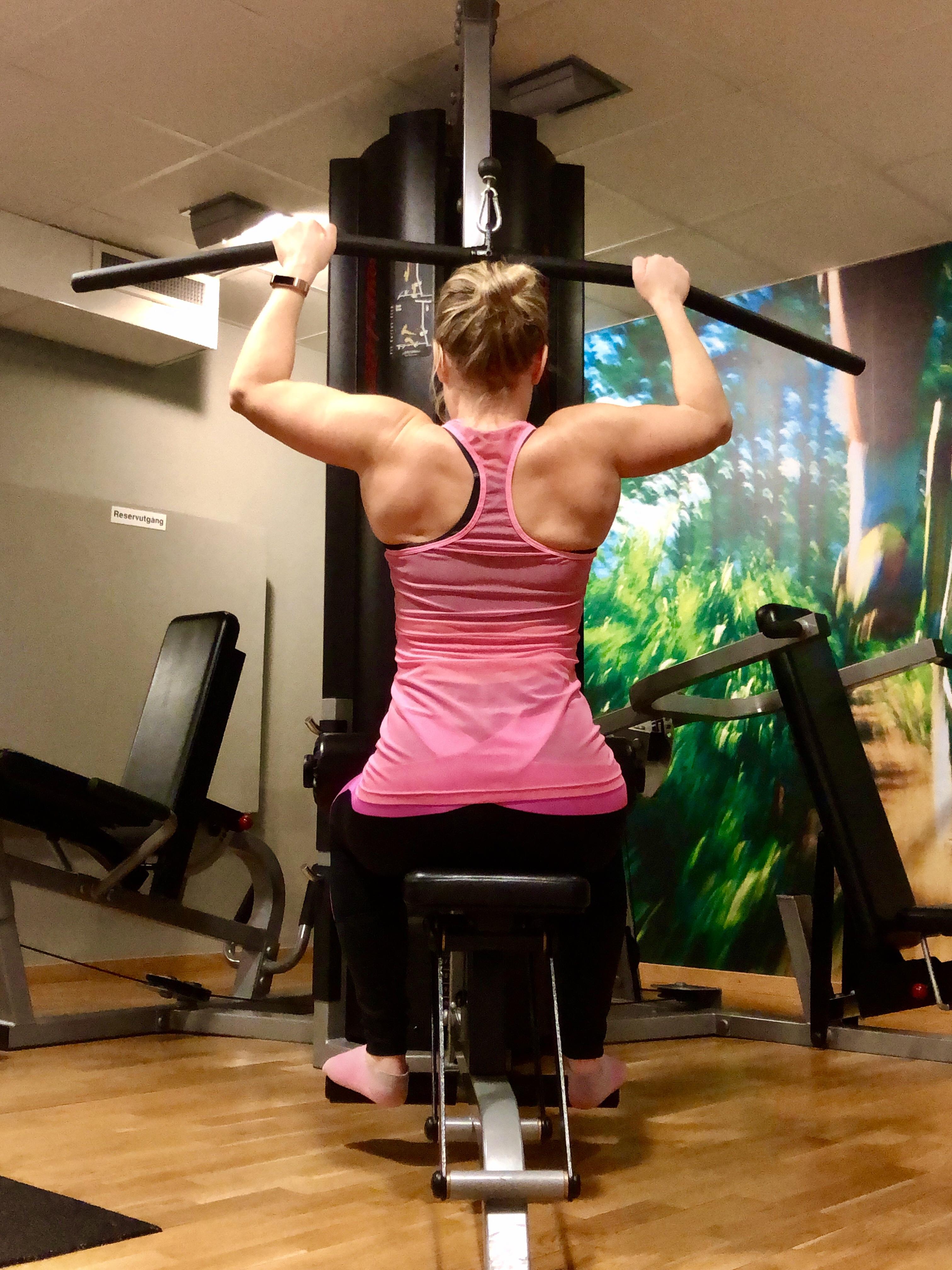 Styrketräning i gym - om mitt löfte för styrketräningen