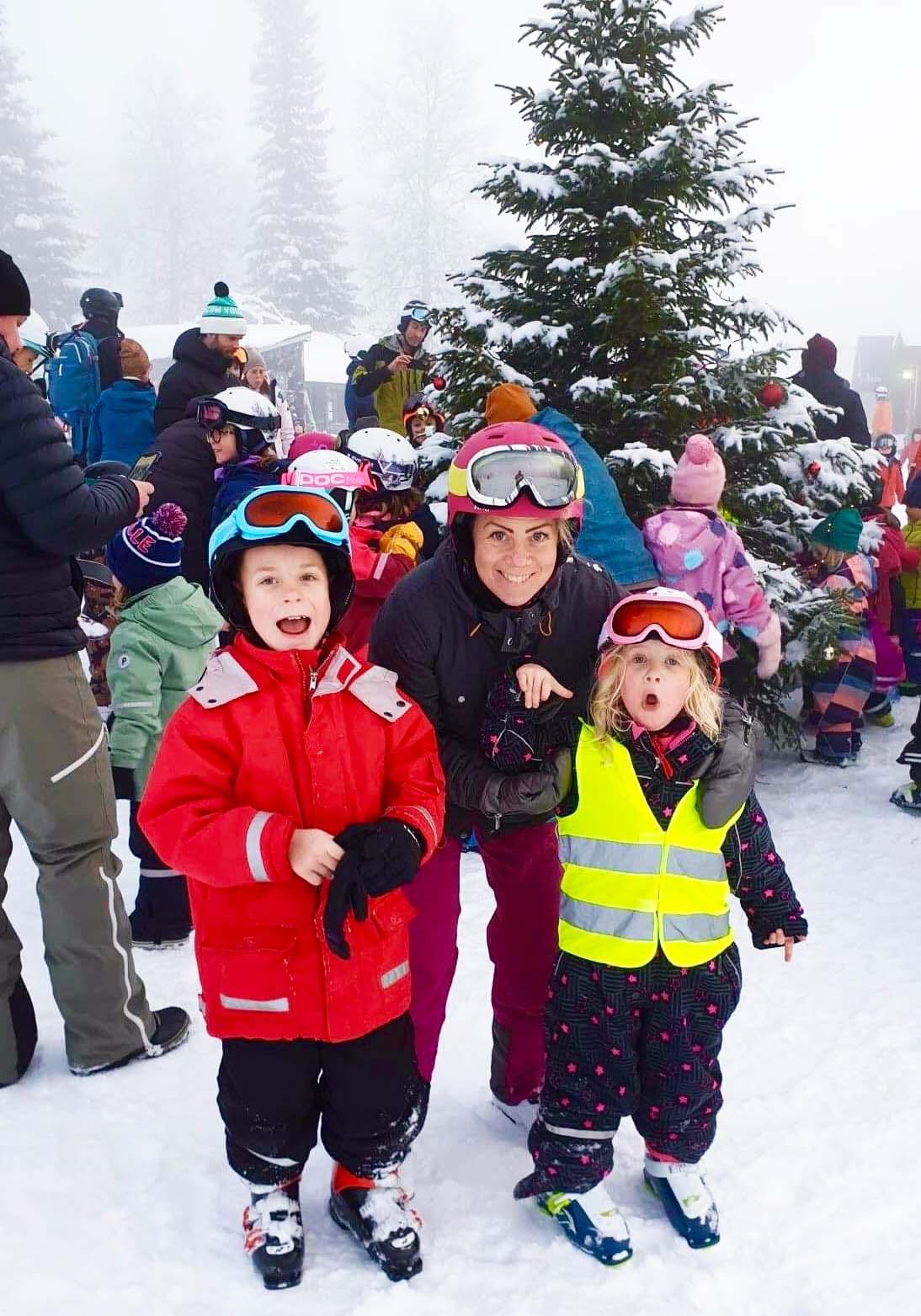 Skidåkning i Åre - jag och barnen