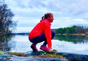 Löpning till Lejondalssjön