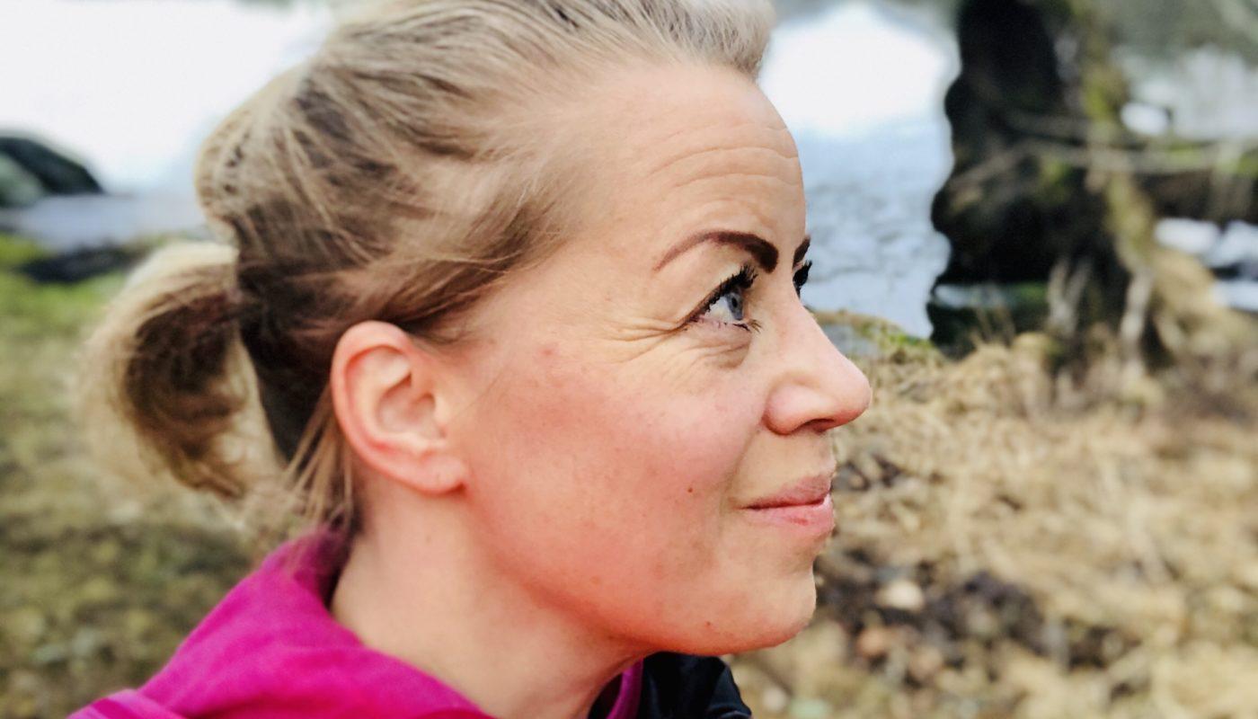Karin löpning till sjön