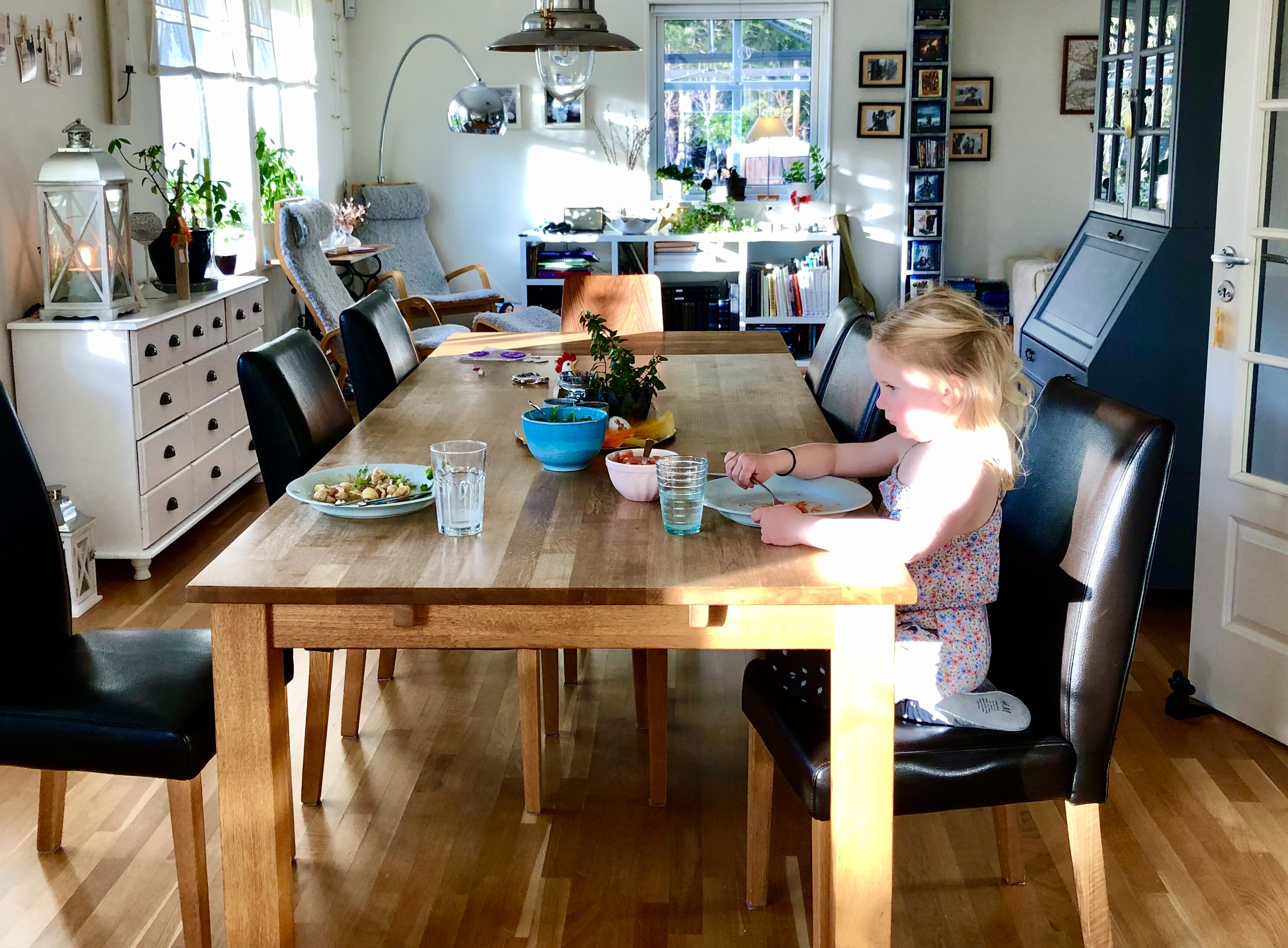 Middag med dottern