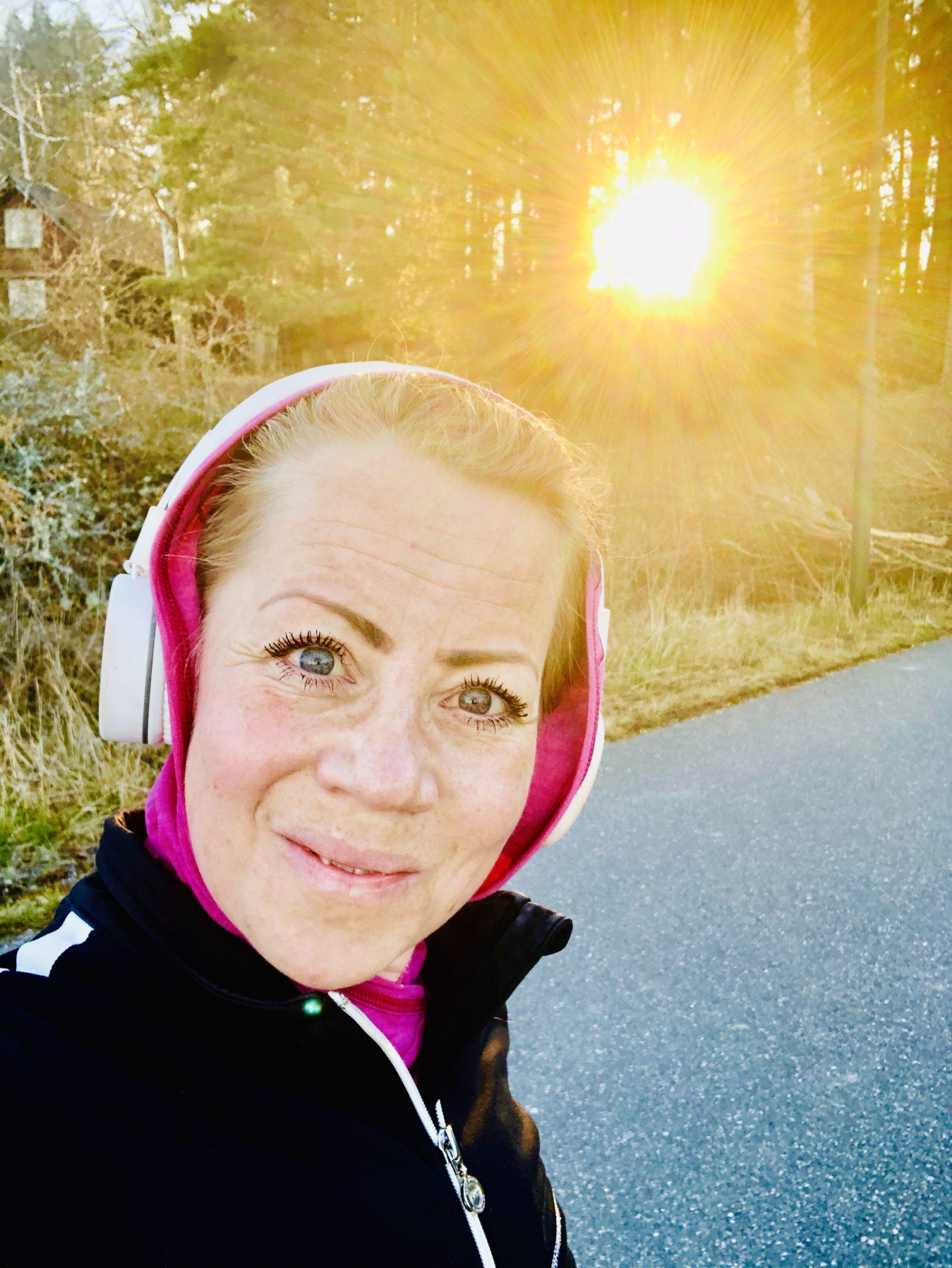 löpning tidig vårmorgon