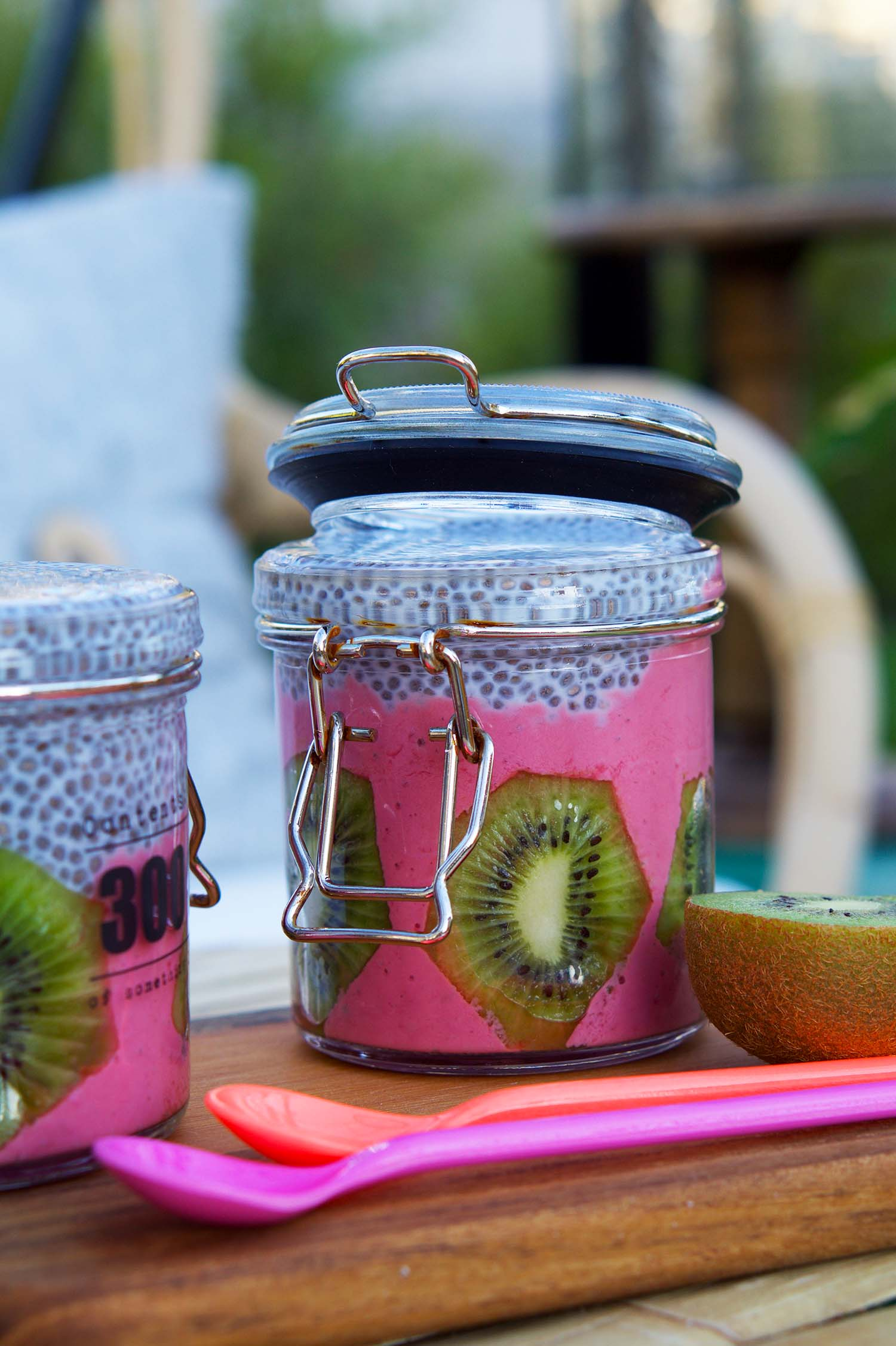 Chiapudding Smoothies med kiwi - recept