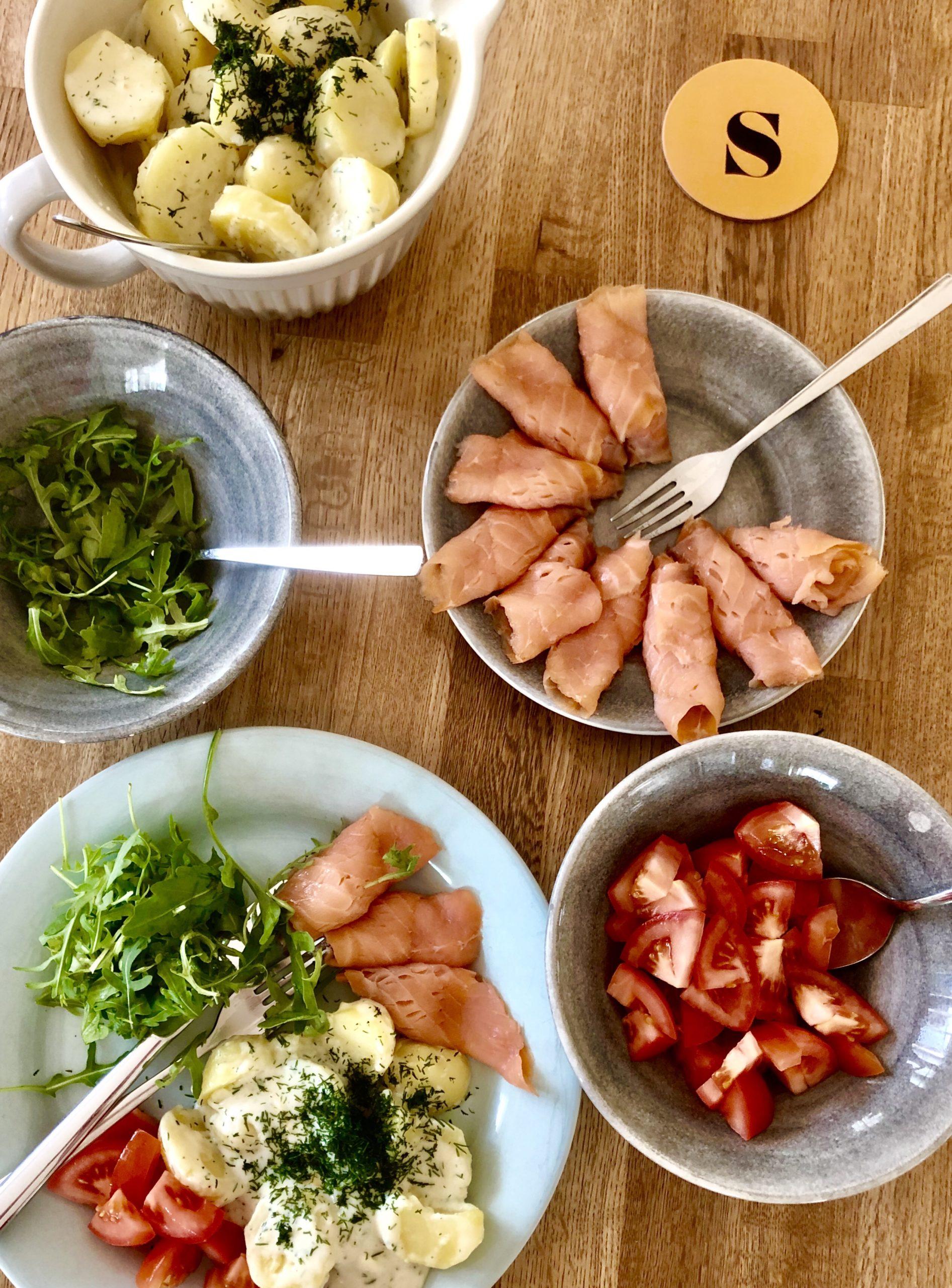 Stuvad potatis och lax