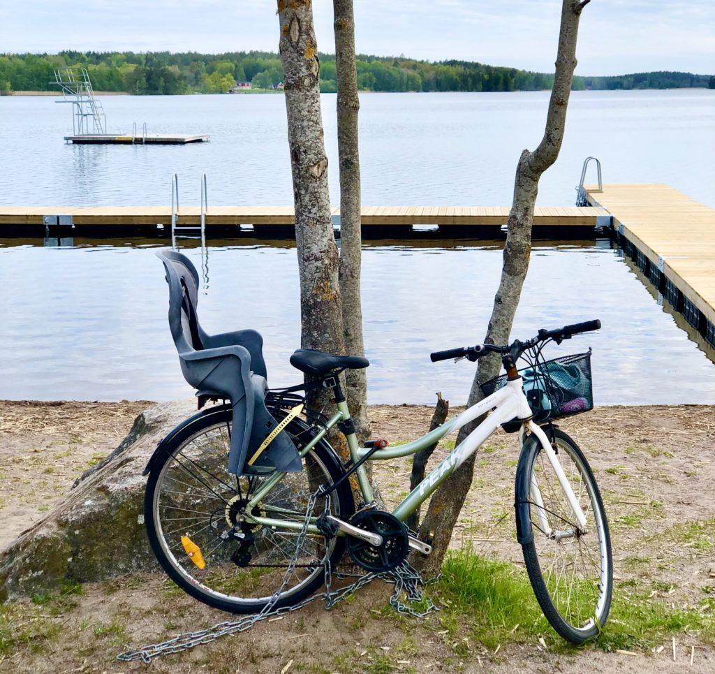 Cykeln vid stranden