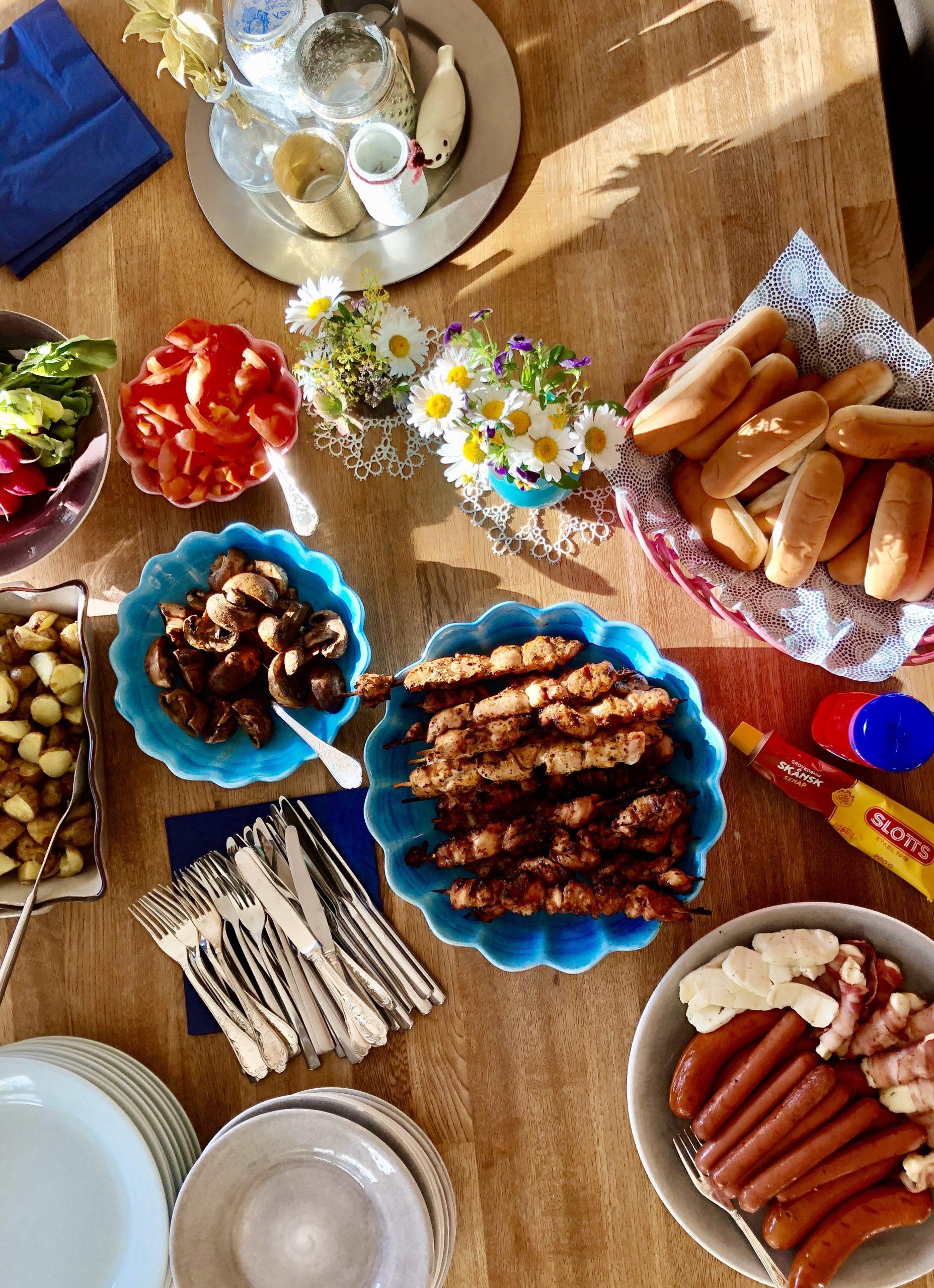Grillmiddag på midsommar