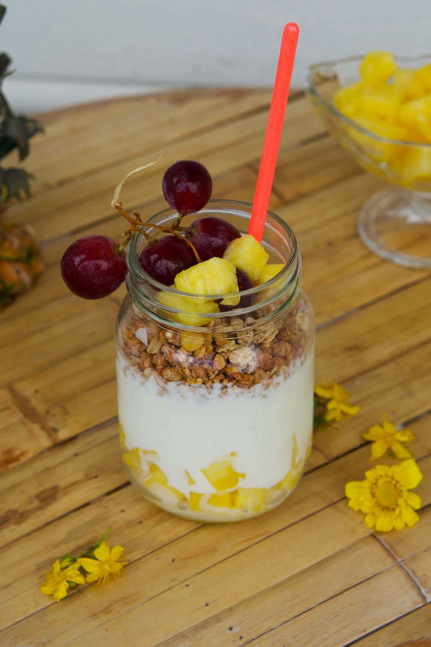 Ananasyoghurt - recept
