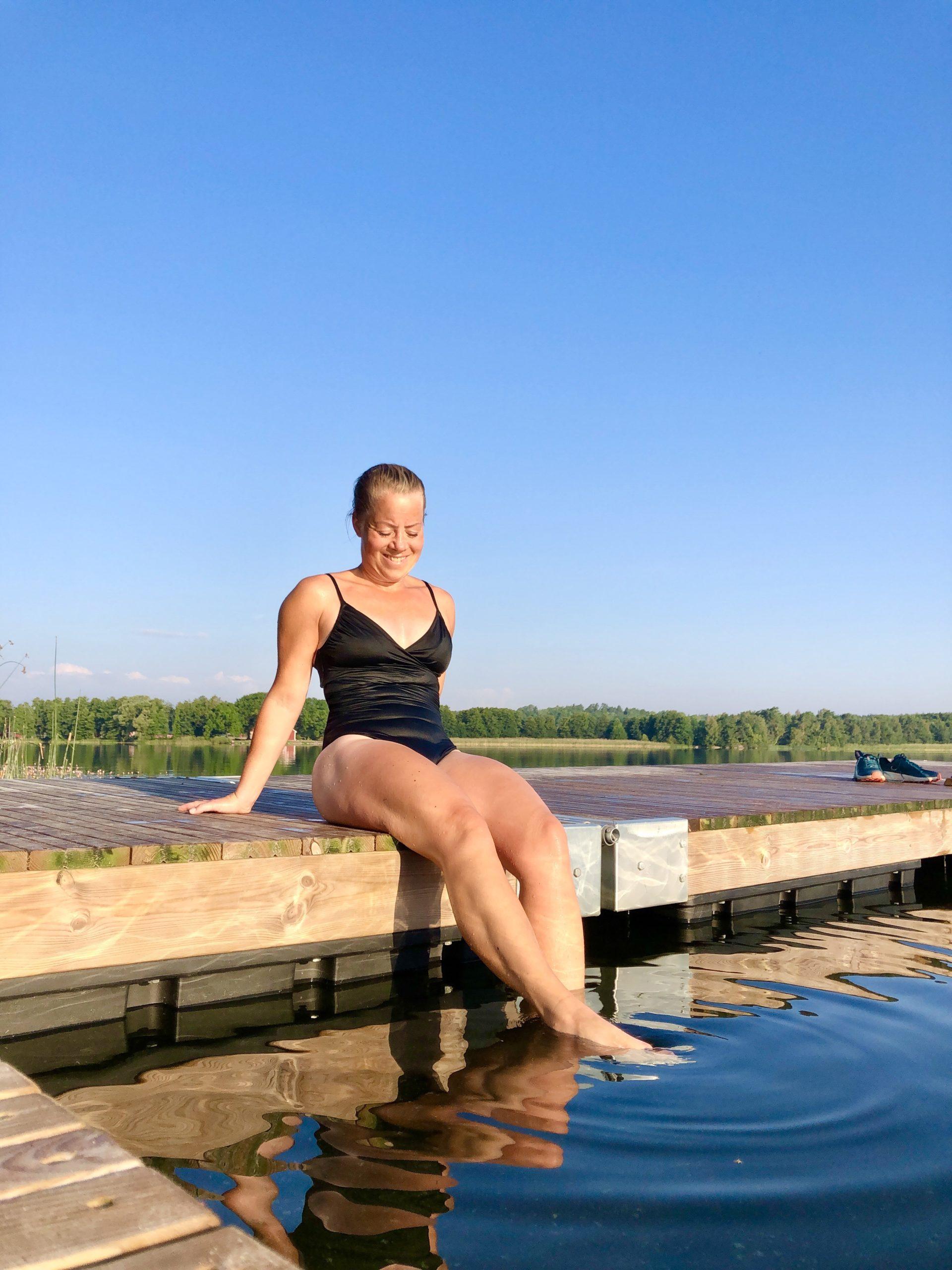 Morgondopp i sjön