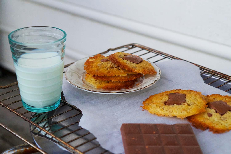 Havrekakor med choklad - recept