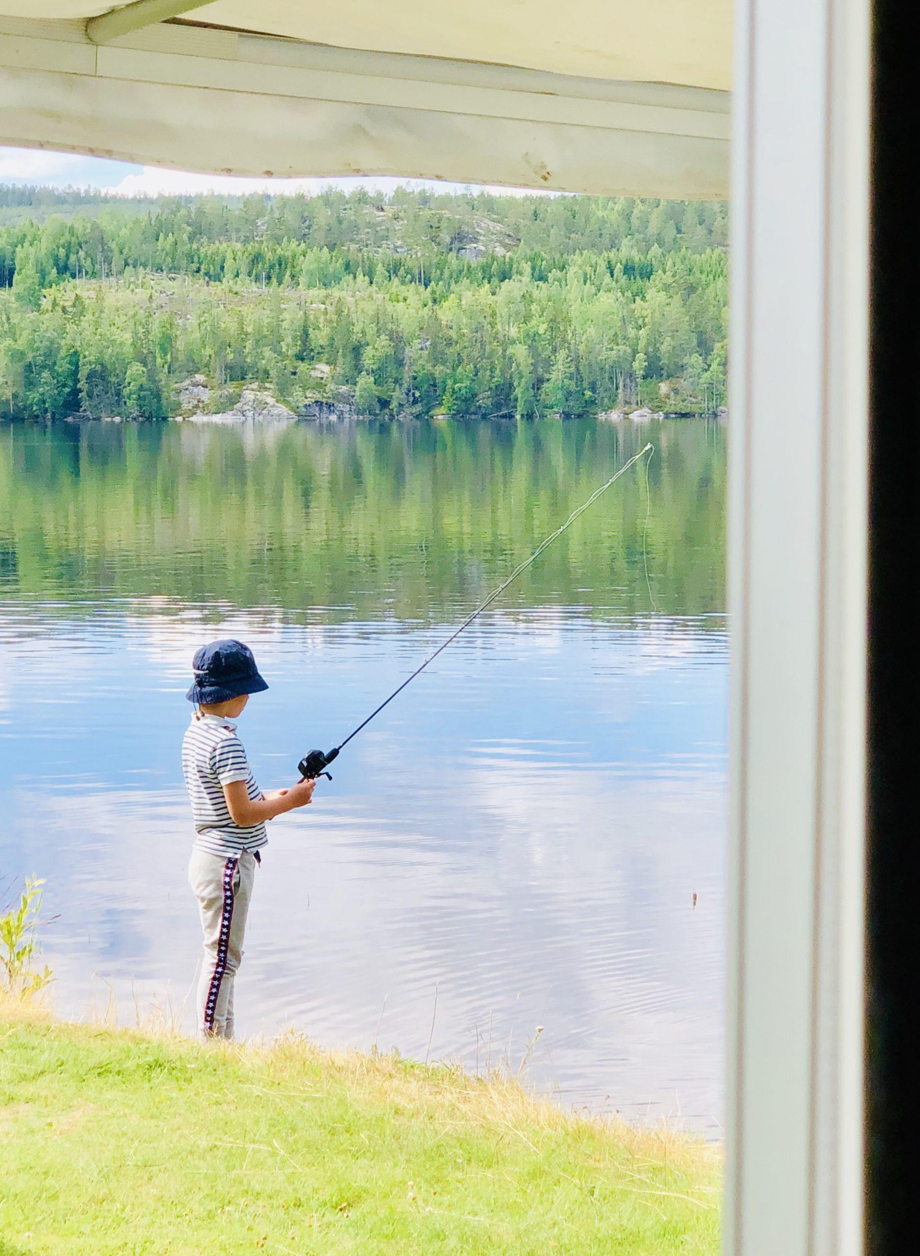 Kvällsfiske på sommaren