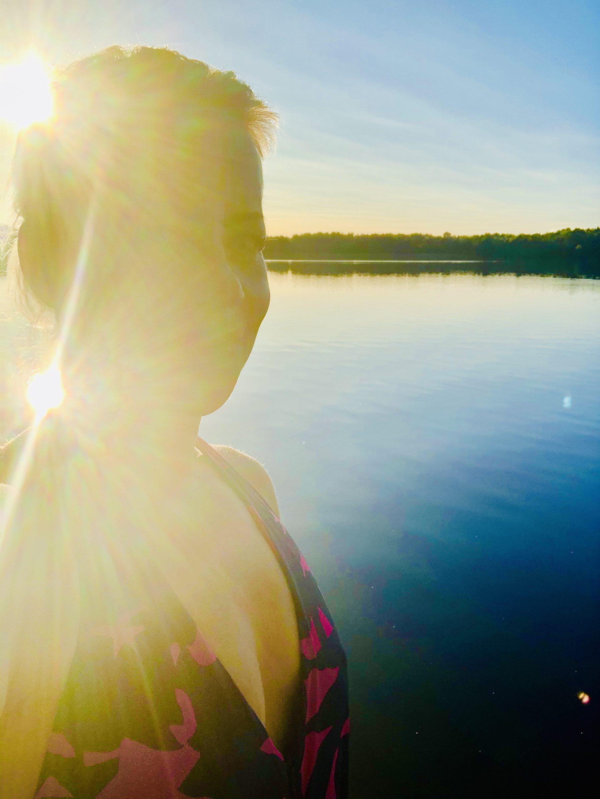 Karin badar kallbad i september