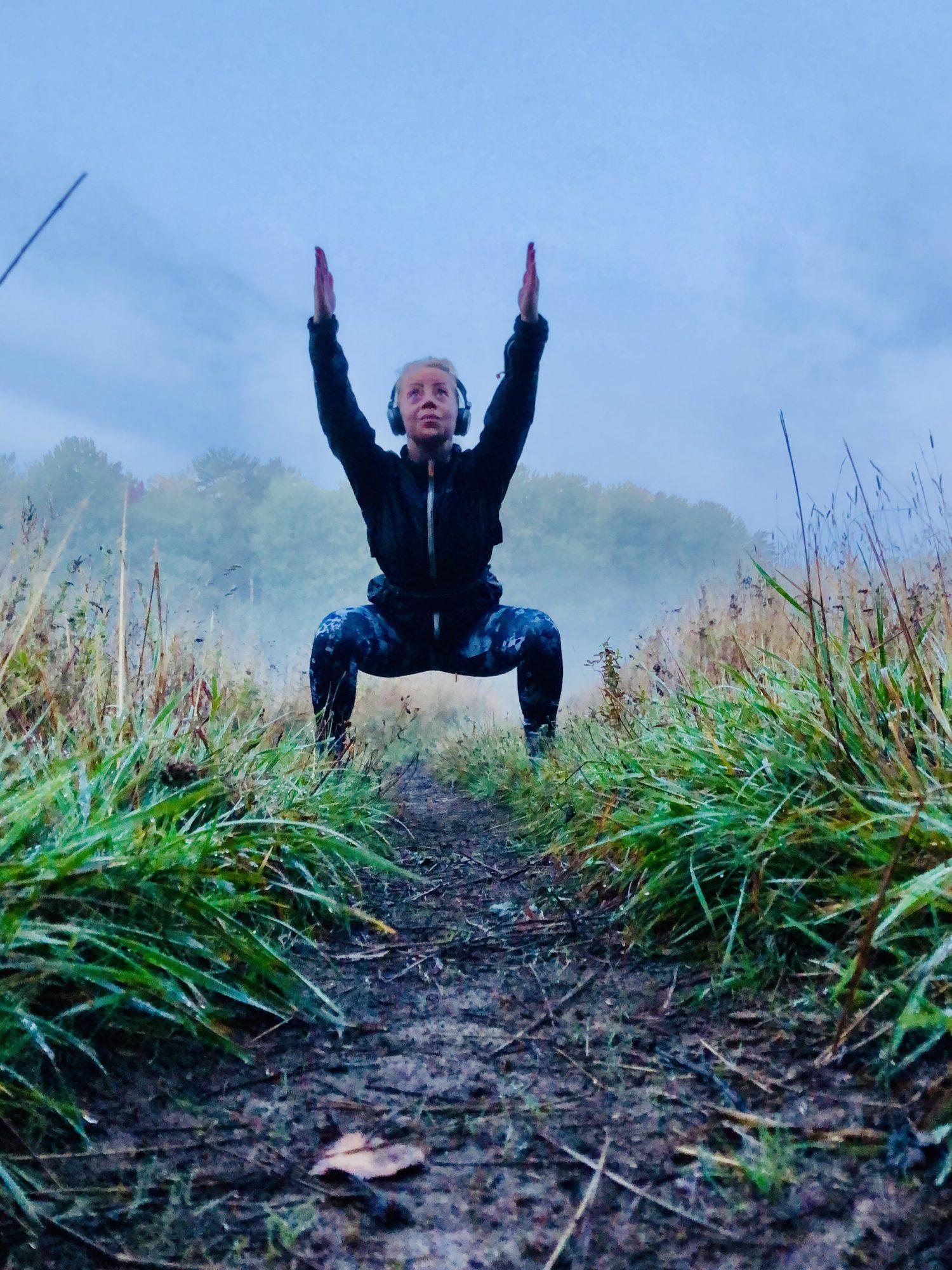 Yoga på fältet