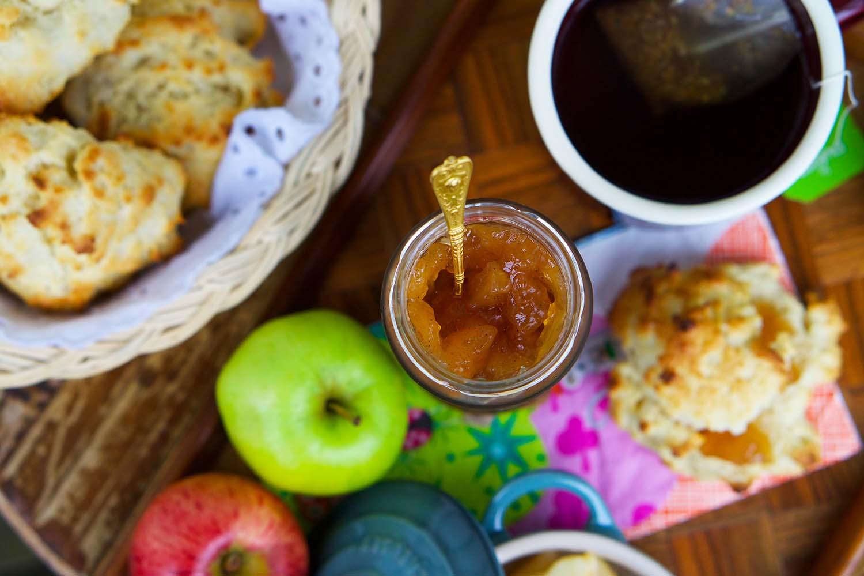Äppelscones recept