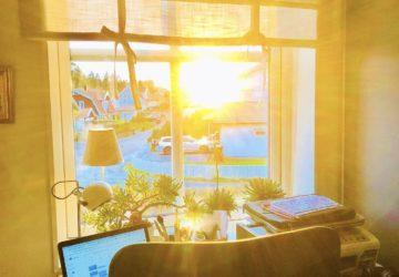 Jobba digitalt hemifrån - min kontorsplats i hemmet