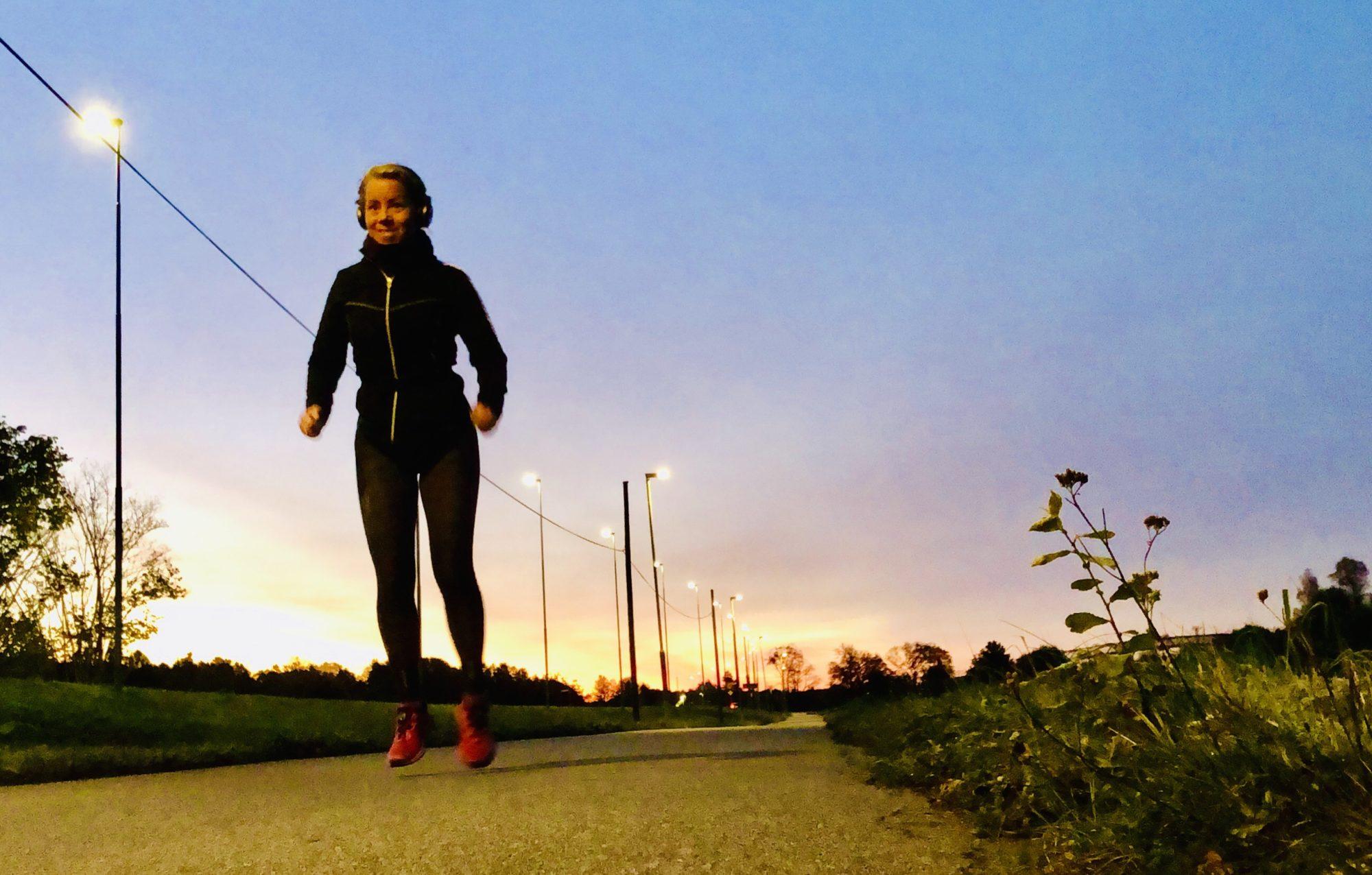 Löpning i gryningen