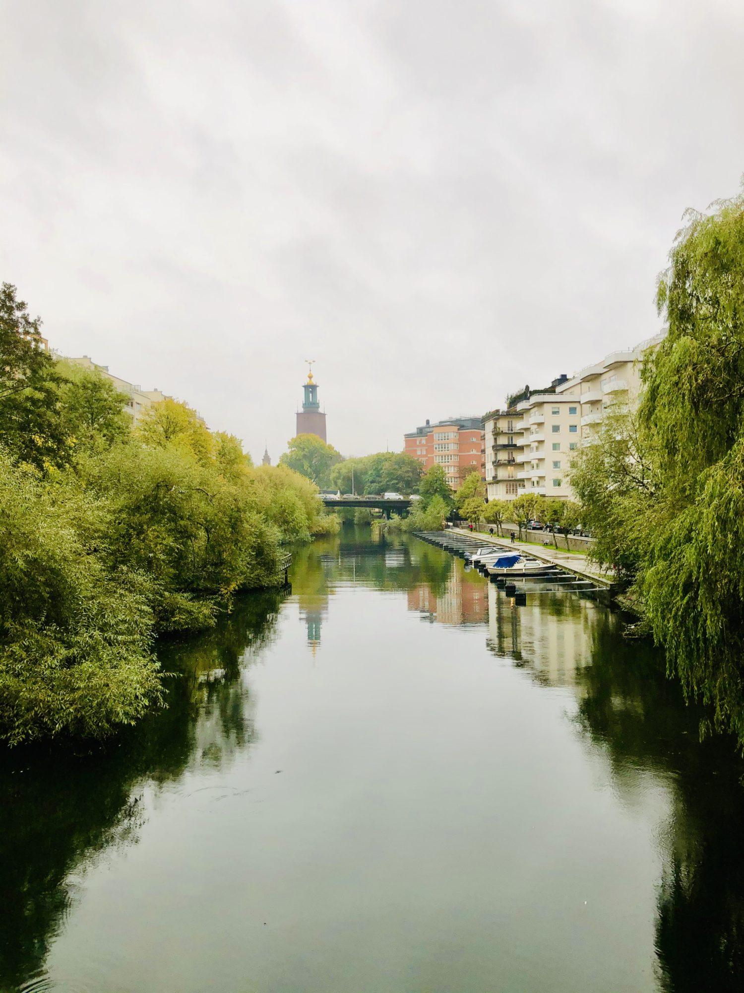 Morgonpromenad i Stockholm i oktober