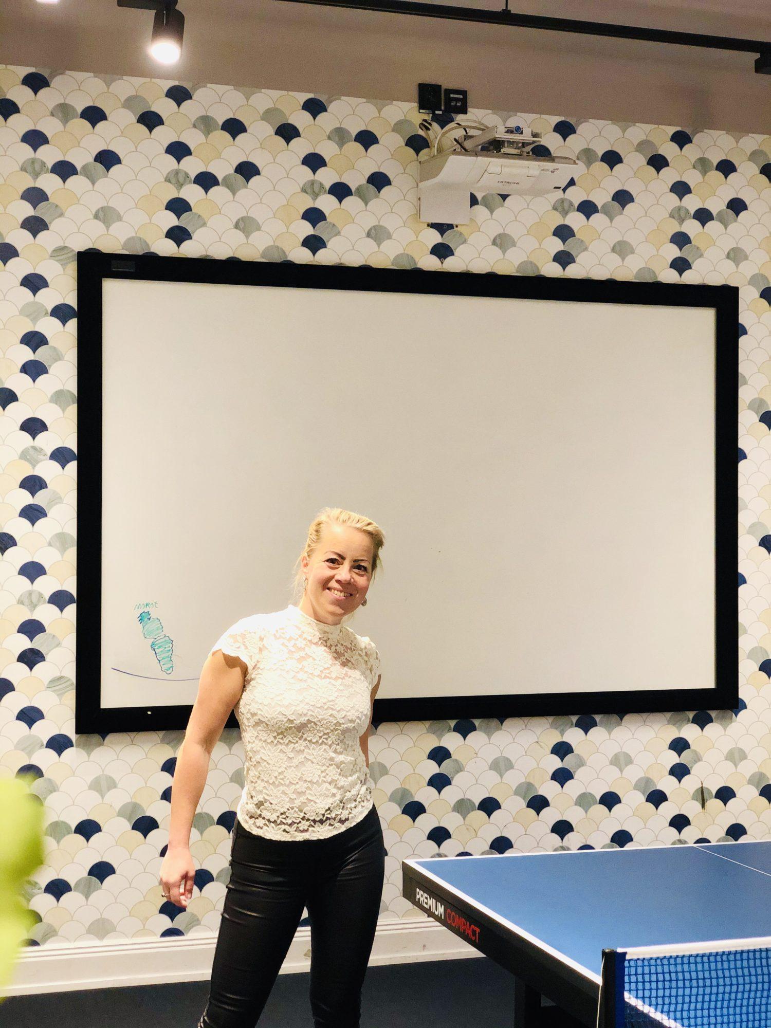 Karin Axelsson på jobbet