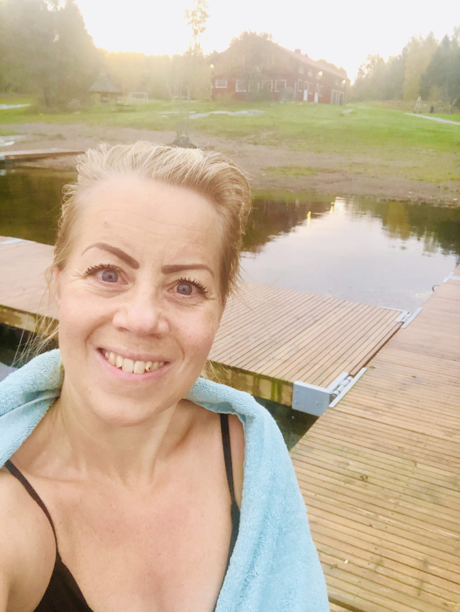 Karin Axelsson efter kallbad