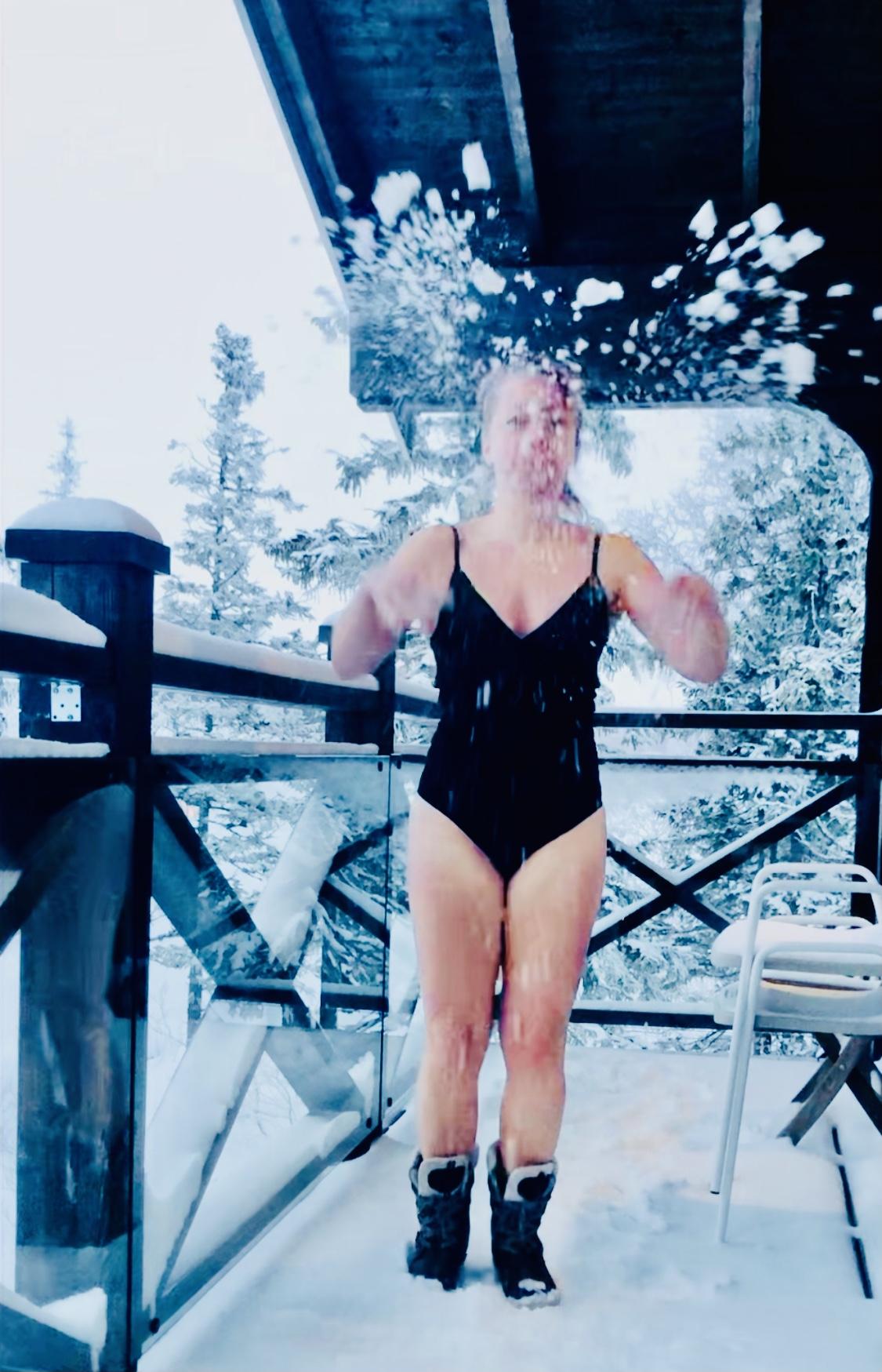 Snöbad i Åre