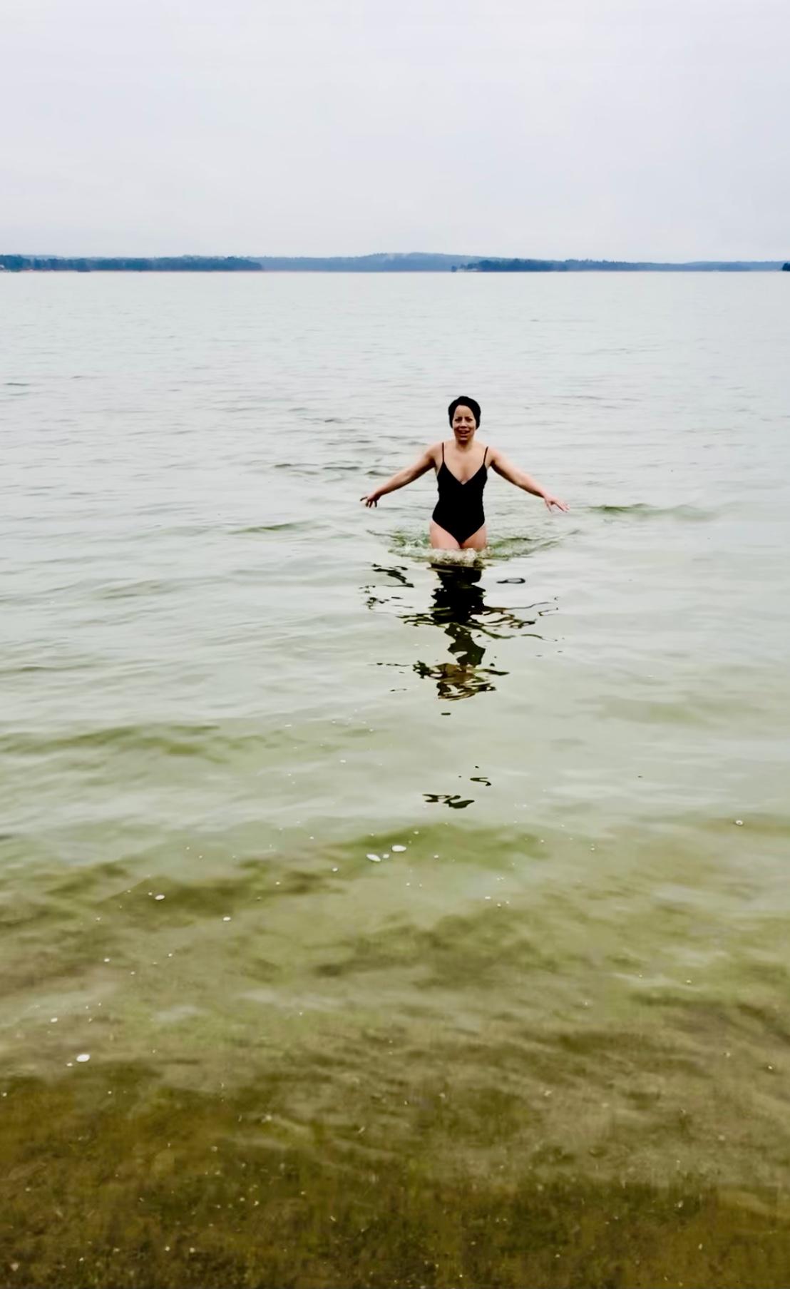Kallbad januari - årets första kallbad