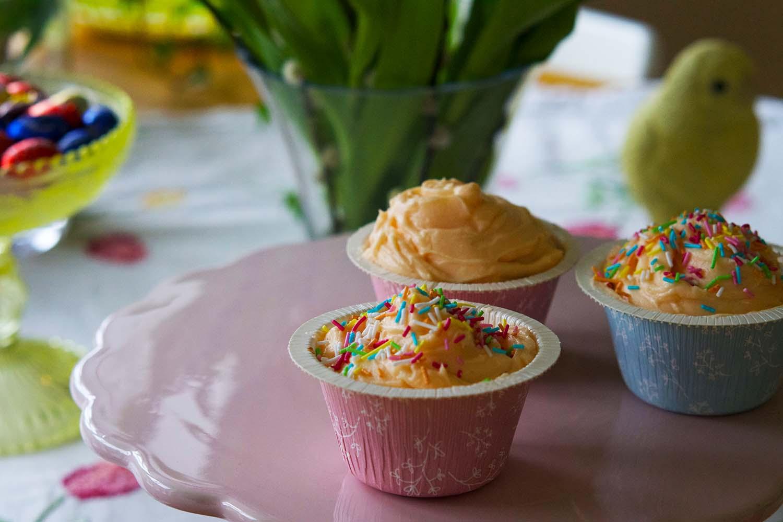 Cupcakes med frosting av smörkräm - recept